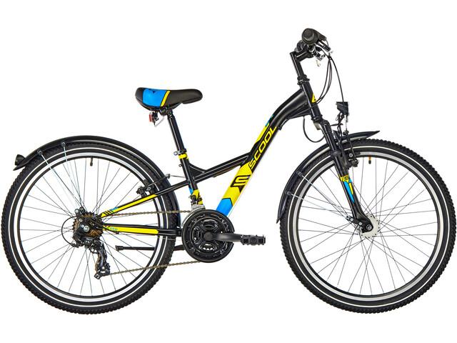 s'cool XXlite 24 21-S Børnecykel steel sort (2019)   City-cykler